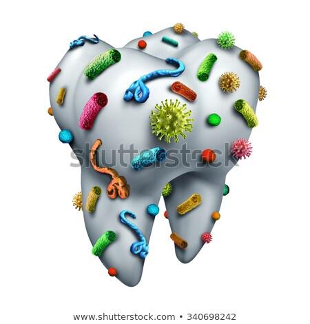 Batteri umani bocca illustrazione sfondo arte Foto d'archivio © bluering