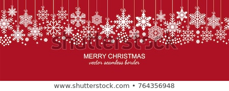 seamless winter background with xmas balls vector illustration stock photo © carodi