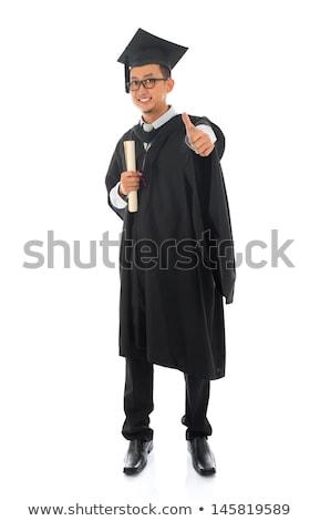 男 卒業 ガウン 証書 実例 ストックフォト © bluering