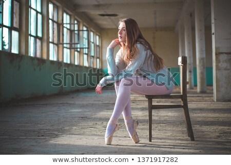 fine art photo of a woman on the chair stock photo © konradbak