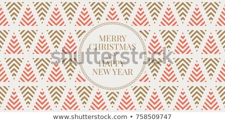naadloos · christmas · textuur · patroon · eps · 10 - stockfoto © beholdereye
