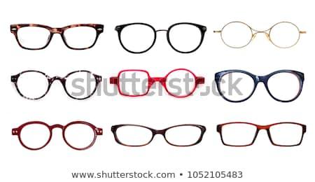 очки изолированный белый моде фон ретро Сток-фото © nenovbrothers