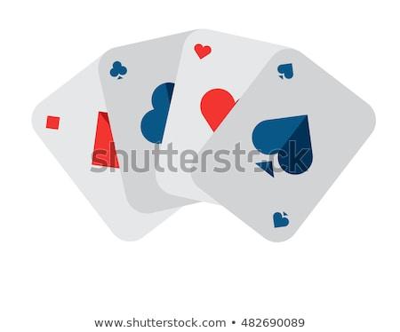 játszik · kártya · ász · pikk · izolált · fehér - stock fotó © sarts