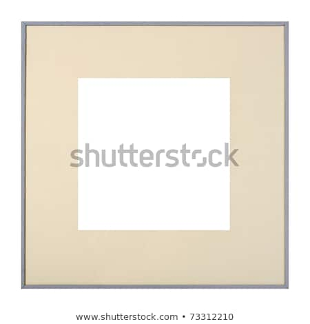 Grey picture frame with matte Stock photo © ErickN