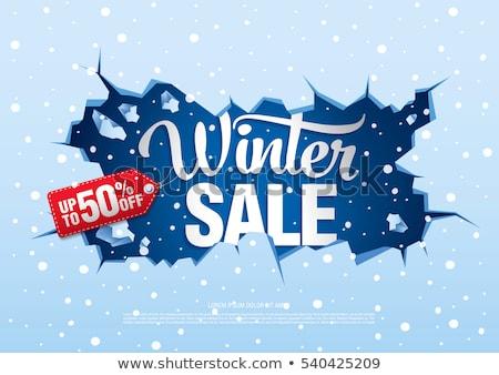 Stock photo: ice crack winter sale