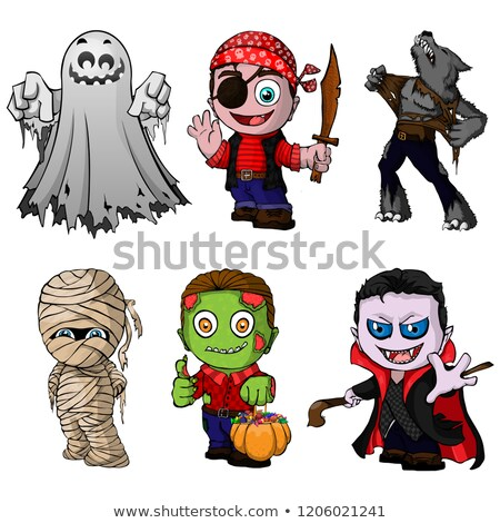 illustration halloween pumpkin maniac death stock photo © yuriytsirkunov