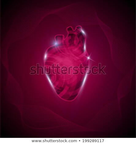 Human heart and wave. Cardiology research concept, heart of gear Stock photo © Tefi