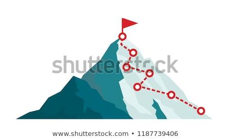 Hegymászás hegymászás hegyek tájkép háló szalag Stock fotó © robuart