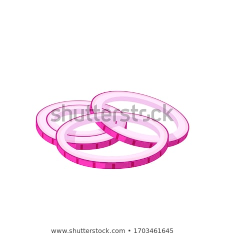 Onion Ring Vector Illustration in Flat Design Stock photo © robuart