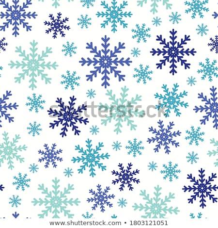Płatki śniegu niebieski kolor jasne dekoracyjny Zdjęcia stock © Glasaigh