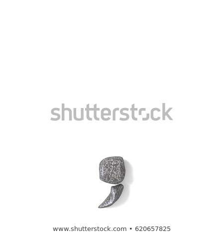 Comma punctuation mark made of rocks 3D Stock photo © djmilic