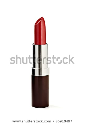 Red lipstick on white background with clipping path. Stock photo © kayros