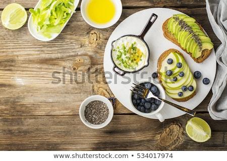 свежие фрукты здорового завтрак поздний завтрак продовольствие фрукты Сток-фото © M-studio