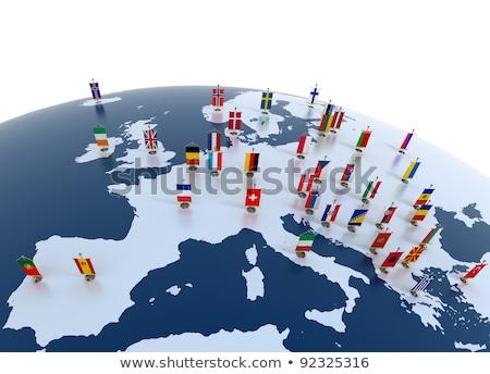 Europe map and European union flag Stock photo © fresh_5265954