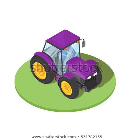 Vektör 3D izometrik örnek traktör sürücü Stok fotoğraf © curiosity