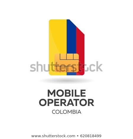 Hareketli operatör kart bayrak soyut dizayn Stok fotoğraf © Leo_Edition