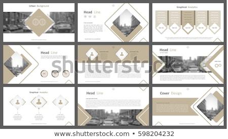 パンフレット チラシ デザインテンプレート パズル セット 現代 ストックフォト © orson