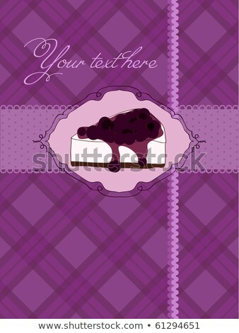 Happy Birthday card template with cheesecake stock photo © bluering