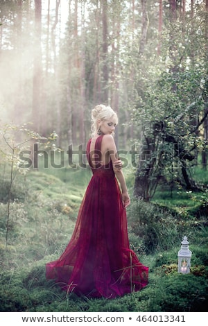 mysterious blonde girl posing stock photo © konradbak