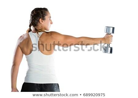Achteraanzicht vrouwelijke rugby speler Stockfoto © wavebreak_media