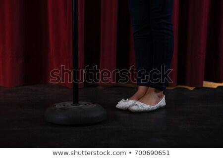 Artysty biały buty stałego za zamknięte Zdjęcia stock © wavebreak_media