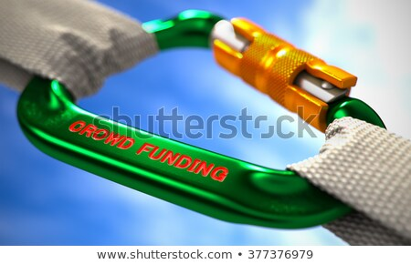 Crowd Funding on Green Carabine with White Ropes. Stock photo © tashatuvango