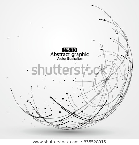 Connection Structure. Point And Curve Constructed The Sphere Wireframe. Vector Stock photo © pikepicture