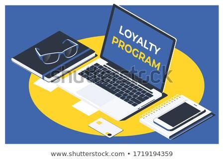 Cliente lealtad blanco teclado hombre 3d dedo Foto stock © tashatuvango