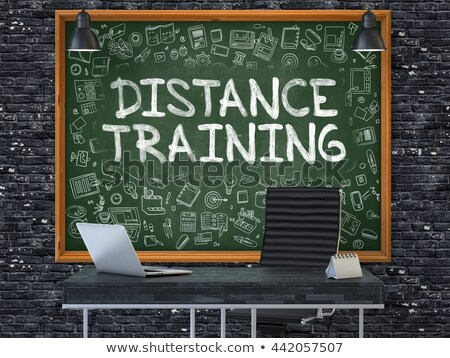 Distance Training - Hand Drawn on Green Chalkboard. Stock photo © tashatuvango