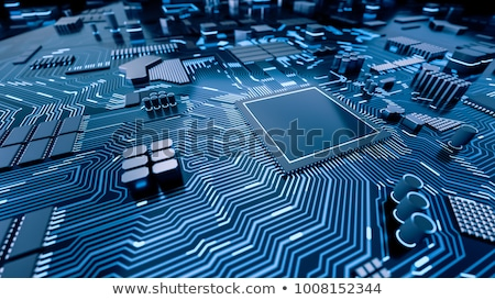 компьютер · процессор · зеленый · золото · чипа · аннотация - Сток-фото © devon