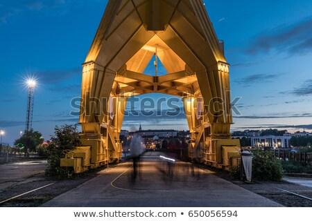 Titan crane on Island of Nantes Stock photo © benkrut
