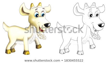 funny goat with colored rings Stock photo © Olena