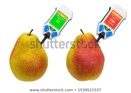 fille · poire · fruits · fruits · jeunes - photo stock © olena