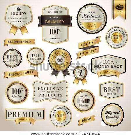best seller premium label badge vector design Stock photo © SArts