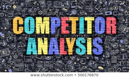 競争相手 分析 いたずら書き デザイン 暗い ストックフォト © tashatuvango