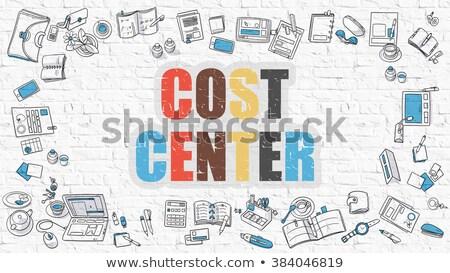 コスト センター いたずら書き デザイン アイコン 碑文 ストックフォト © tashatuvango