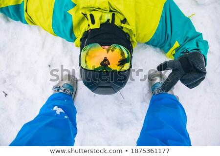 альпийский · снега · сцена · женщину · счастливым - Сток-фото © is2