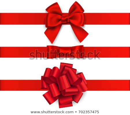 Red Ribbon And Bow Set Stock photo © barbaliss