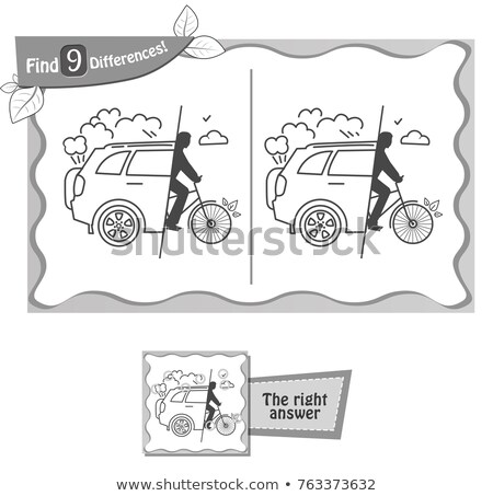 find 9 differences game free cars black  Stock photo © Olena