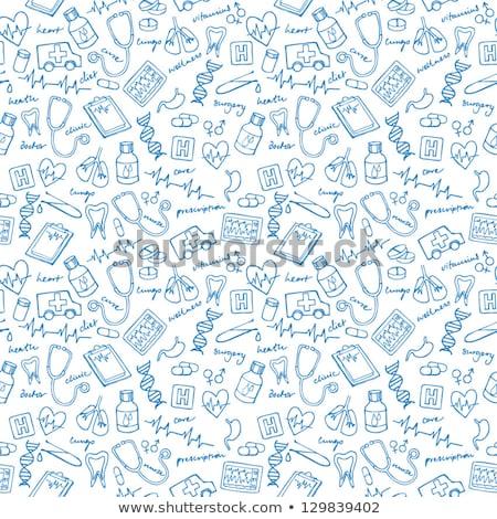 Dentist. Medical background. Health care. Vector medicine illustration. Stock photo © Leo_Edition