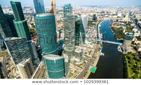 Moscow cityscape with river embankment Stock photo © mahout