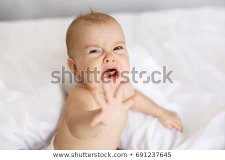 güzel · bebek · ağlayan · yalıtılmış · beyaz · yüz - stok fotoğraf © gelpi