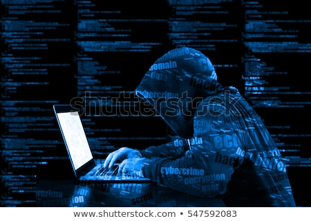 Cybersecurity, computer hacker with hoodie Stock photo © stevanovicigor