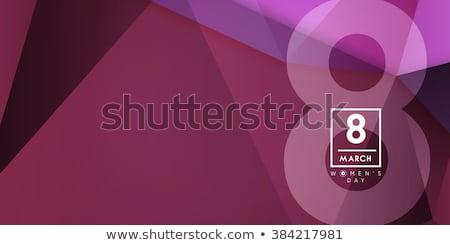 Limpio feliz día de la mujer celebración mujeres belleza Foto stock © SArts