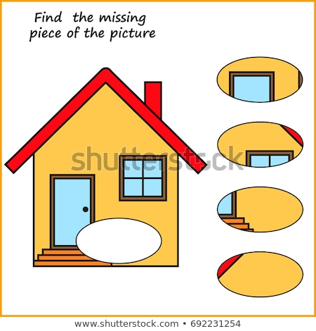 Gyerekek oktatási talál hiányzó darab puzzle Stock fotó © adrian_n