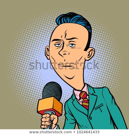 Higgadt semleges riporter levelezőtárs újságíró férfi Stock fotó © rogistok