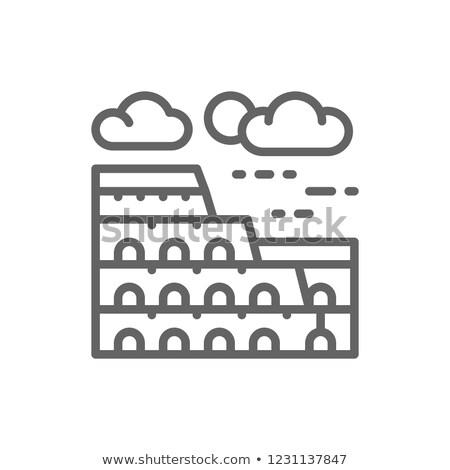 Колизей Рим белый Италия ориентир архитектура Сток-фото © popaukropa