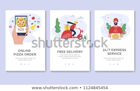 man · reclame · fast · food · cafe · jongen · kip - stockfoto © studioworkstock