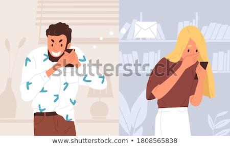 surprised woman reaction to girlfriend Stock photo © studiostoks