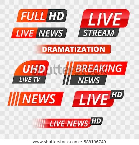 Breaking news teken computerscherm illustrator ontwerp grafische Stockfoto © alexmillos